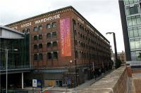 The former Great Northern Railway Company's Goods Warehouse still proudly displays that name. This is located just to the north (right of shot) of the former Manchester Central station, now an exhibition and conference centre.<br><br>[John McIntyre&nbsp;08/07/2009]