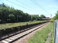 The remains of the former main line platforms at Rutherglen in June 2009 looking west towards Glasgow Central. The platforms were abandoned when the Argyle line opened in 1979. <br><br>[David Panton&nbsp;01/06/2009]