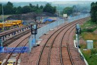 Some further progress on laying the new Bathgate TMD sidings on 12 July 2009.<br><br>[Ewan Crawford&nbsp;12/07/2009]