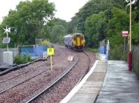 156433 departs from Stewarton for Glasgow Central on 14 July.<br><br>[John Steven&nbsp;14/07/2009]
