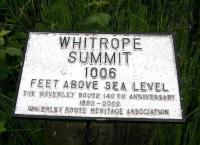 Summit sign at Whitrope, just south of the tunnel. July 2009.<br><br>[John Furnevel&nbsp;10/07/2009]