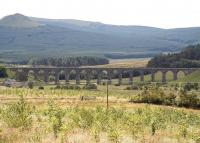Looking south west towards Shankend Viaduct from alongside the B6399 road on 10 July 2009.<br><br>[John Furnevel&nbsp;10/07/2009]