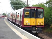 314 203 approaching Burnside with a service for to Glasgow Central<br> <br><br>[John Steven&nbsp;15/07/2009]