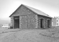 Surviving goods shed at Stobo in 1986.<br><br>[Bill Roberton&nbsp;//1986]