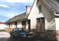 The former station building at Redcastle on the Fortrose branch. Photographed in October 1990 prior to commencement of the restoration project [See image 24676]<br><br>[Colin Miller&nbsp;/10/1990]