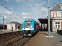 EMU 27718 has just arrived from Nantes at Clisson and will shortly cross over and follow a fast express back to Nantes calling all stations. <br><br>[Mark Bartlett&nbsp;27/06/2009]