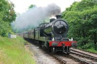 Robinson class O4 2-8-0 no 63601 approaching Oxenhope station on 26 June 2009 with the 1525 'express passenger' working from Keighley.� The 2-8-0 was visiting the KWVR as part of the Summer Steam Gala.� <br><br>[Andy Carr&nbsp;26/06/2009]