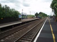 The basic but very tidy facilities at Tackley can be seen in this view looking towards Oxford. The station serves a fairly small village and has done well to survive through to the present day. <br><br>[Mark Bartlett&nbsp;18/06/2009]