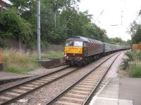 47786 'Roy Castle OBE' in tow at the rear of a Brighton - Doncaster charter passing Hampstead Heath on 25th July 2009<br><br>[Michael Gibb&nbsp;25/07/2009]