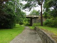 This platform and bridge are all that remains of the once busy junction station at Craigellachie. This was the Speyside Line platform with trains leaving here for Boat of Garten.<br><br>[John Gray&nbsp;27/07/2009]