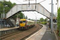 334034 calls at Hamilton Central on 27 July 2009 with a Motherwell - Milngavie service.<br><br>[John McIntyre&nbsp;27/07/2009]