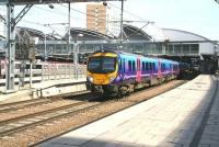 A Hull - Liverpool Lime Street trans-Pennine service pulls away from Leeds on 22 April 2009.<br><br>[John Furnevel&nbsp;/04/2009]
