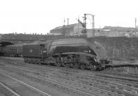 A4 Pacific no 60034 <I>Lord Farringdon</I> backs out of Glasgow's Buchanan Street station around 1964 having recently arrived on one of the fast services from Aberdeen.<br><br>[K A Gray&nbsp;//1964]