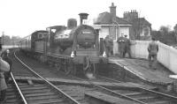 McIntosh 3F no 57550 stands at Murrayfield station on 3 February 1962 with the <I>Peebles Railtour</I>.<br><br>[K A Gray&nbsp;03/02/1962]