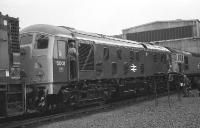 Class 24 no 5001 in ex works condition receives a visit from members of the public during the Railfair at Eastfield depot on 16 September 1972. <br><br>[John McIntyre&nbsp;16/09/1972]