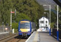 The 16.11 Glasgow Queen Street-Inverness service formed by 170 413 enters Blair Atholl on 30 July.<br><br>[Bill Roberton&nbsp;30/07/2009]