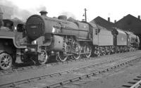 <i>Crab</i> 2-6-0 no 42882 stands in the shed yard at Kingmoor in June 1962.<br><br>[K A Gray&nbsp;07/06/1962]