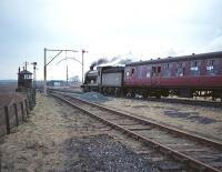 Scottish Rambler no 3 seen shortly after leaving Airth station on 30 March 1964. Airth signal box is on the left and ahead lies Alloa Junction.<br><br>[Robin Barbour Collection (Courtesy Bruce McCartney)&nbsp;30/03/1964]
