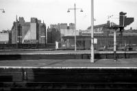 A few changes have taken place since March 1976 at the London terminus of the Midland Railway, St Pancras. 45103 waits to depart northwards on 20 March 1976, overlooked by the many chimneys on the gable ends of the nearby rows of houses.<br><br>[John McIntyre&nbsp;20/03/1976]