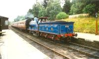Ex-CR 828 arriving with a train at Boat of Garten on 18 August 1993.<br><br>[Ken Browne&nbsp;18/08/1993]