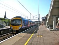 The 0938 FTPE service to Edinburgh (ex-Manchester Airport) leaving Lockerbie on 13 August 2009.<br> <br><br>[Bruce McCartney&nbsp;13/08/2009]