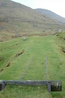 Looking towards Glenlochsie at the zig zag in September 2004. The line to the left ran, via another reversing spur, downhill to Dalmunzie House. That to the right continued uphill to Glenlochsie Lodge.<br><br>[Ewan Crawford&nbsp;09/05/2004]
