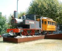 RS No 3, one of the locomotives used on the former narrow gauge 'tramway' linking Salou to Reus, seen on 12 August on display next to the old Salou station (now a nursery).<br><br>[Colin Alexander&nbsp;12/08/2009]
