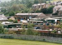 A large number of ex-Charterail demountable trailers being used for additional covered storage at the Penchem Chemicals depot in Colne in June 1997. The site was located a short distance from Colne viaduct.<br><br>[David Pesterfield&nbsp;19/06/1997]