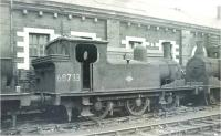 Ex-NER class J72 0-6-0T no 68733 photographed at Motherwell Shed on 9 July 1962.<br><br>[Ken Browne&nbsp;09/07/1962]