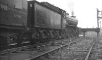 B16 4-6-0 no 61418 is about to get underway with the <I>Durham Rail Tour</I> in the yard at West Auckland Colliery on 13 October 1962, having taken over from V3 no 67636. The train is about to run over West Auckland level crossing and commmence the next leg of the tour which will take the train to Port Clarence. [With thanks to Bill Jamieson]<br> <br><br>[K A Gray&nbsp;13/10/1962]
