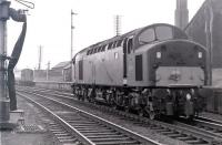 BR <I>Grand Scottish Tour No 2</I> of 27 May 1967 has arrived at Ayr from Edinburgh. EE Type 4 no D276 which brought in the train comes off at the south end of the station to hand over to a pair of Type 2s for the Stranraer leg.<br><br>[Colin Miller&nbsp;27/05/1967]