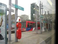 DLR No 89 at Poplar Station. It really is quite spooky being on a driverless train!<br><br>[Alistair MacKenzie 24/08/2009]