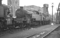 Stanier 3P 2-6-2T no 40203 on shed at 14B Kentish Town in 1962, shortly before withdrawal.<br><br>[K A Gray&nbsp;28/10/1962]