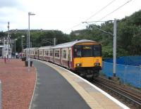 On Saturday 8 August 318 259 calls at Rutherglen with a Milngavie <br> service.�The M74 extension to the M8 is under construction adjacent to the�station and, in two years time, the predominant sound here will be of road traffic rather than the regular trains. <br> <br><br>[David Panton&nbsp;08/08/2009]