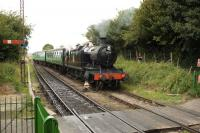Ex-GWR 2-8-0T no 5224 running into Ropley on 27 August<br> <br><br>[Peter Todd&nbsp;27/08/2009]
