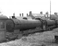 A trio of B16 locomotives, nos 61443, 61413 & 61415, awaiting the cutters torch in Darlington Scrapyard on 27 May 1962. All 3 had been officially withdrawn by BR in September 1961 from York, Mirfield and Hull Dairycoates respectively.<br><br>[David Pesterfield&nbsp;27/05/1962]