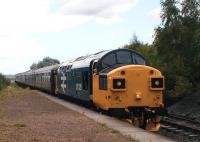 <I>The drivers are definitely getting younger!</I> 37025 halts at Kinneil Halt (request stop) on 29 August 2009 during the SRPS diesel weekend.<br> <br><br>[David Forbes&nbsp;29/08/2009]