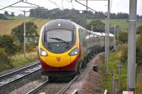 A Glasgow Central - London Euston Pendolino approaching Carluke on 31 August 2009<br><br>[Bill Roberton&nbsp;31/08/2009]