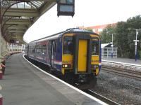 156 449 pulls out of platform 3 at Kilmarnock with a Carlisle service on 2 September 2009, carrying far fewer passengers than when it arrived.<br><br>[David Panton&nbsp;02/09/2009]