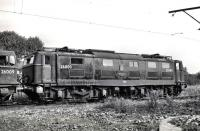 26000 <I>Tommy</I> standing in the sidings to the west of Reddish depot in the late 50s/early 60s. The photograph shows the contrast with the redesigned cab on 26009, which was fitted to subsequent production locomotives following feedback from drivers on the Netherlands State Railway, to whom prototype 26000 was loaned pending the opening of the Woodhead route in 1954.<br><br>[K A Gray&nbsp;//]