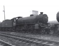 Withdrawn from 62B, Dundee Tay Bridge, two months earlier, no 61180 is seen here in the sidings at Thornton on 11 June 1967. The B1 was presumably on its way to Wishaw where it was cut up at the Motherwell Machinery and Scrap Co at the end of July.<br> <br><br>[David Pesterfield&nbsp;11/06/1967]