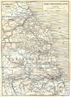 A map of Northumberland from around 1910-1920 which shows the rail network existing at that time. From Highways and Byways in Northumbria by Peter Anderson Graham.<br><br>[Alistair MacKenzie&nbsp;12/09/2009]