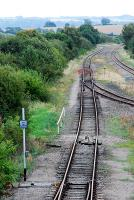 Looking to Oxford at Honeybourne. The line to the left serves the nearby MOD establishment. The line to the right is the Oxford, Worcester and Wolverhampton Railway. There was a signalbox on the right serving the junction, now gone.<br><br>[Ewan Crawford&nbsp;05/09/2009]