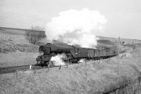 A3 Pacific no 60100 <I>Spearmint</I> photographed passing Whitrope summit in the 1960s with a southbound freight.<br><br>[Robin Barbour Collection (Courtesy Bruce McCartney)&nbsp;//]
