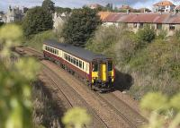 156513 leaves Aberdour with a Fife Inner Circle service on 20 September.� On Sundays 156s often appear on such trains as they are not required on Shotts line services.<br> <br><br>[Bill Roberton 20/09/2009]