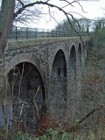 Camps Viaduct is a large structure on the North British Railway's Camps Branch near the terminus of the line which served a quarry and limeworks. Closer to the junction at Uphall was the Pumpherston Oilworks. The viaduct now carries a footpath.<br><br>[Ewan Crawford&nbsp;06/12/2003]