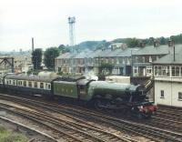 4472 <I>Flying Scotsman</I> at Skipton with <I>The North Yorkshireman</I> on 30 June 1981.<br><br>[David Pesterfield&nbsp;30/06/1981]