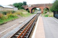 Charlbury looking to Worcester. Some works can be seen on the left for the re-doubling of the line.<br><br>[Ewan Crawford&nbsp;06/09/2009]