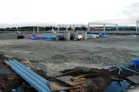 Bathgate looking over the site of the shed to the new EMU maintenance sidings.<br><br>[Ewan Crawford&nbsp;26/09/2009]