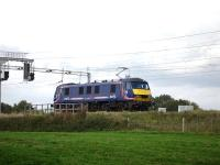 First ScotRail liveried 90024 stands at signals south of Winsford Station <br><br>[David Pesterfield&nbsp;22/09/2009]